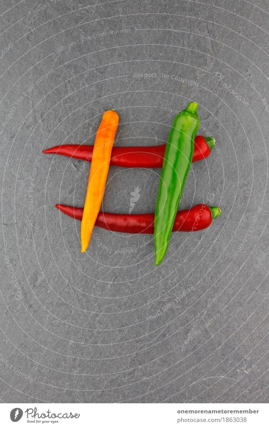 4 Chili Kunst ästhetisch Chilisoße Chiliernte Scharfer Geschmack Scharfer Gegenstand Hashtag rot grün gelb Strukturen & Formen Schiefer Gemüse Foodfotografie