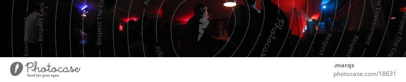 go2jungle Mensch blau rot Party Musik Feste & Feiern groß Bar Club Panorama (Bildformat) Drum'n'Bass