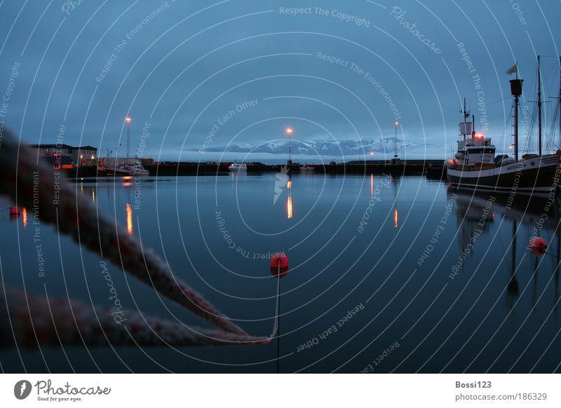 Island01 Wasser Himmel blau Wolken Einsamkeit Berge u. Gebirge Landschaft Küste Seil Horizont Hafen Schifffahrt Fischerboot Bootsfahrt Hafenstadt Fischerdorf