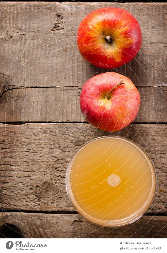 Apfelsaft Lebensmittel Frucht Ernährung Frühstück Bioprodukte Getränk Saft Glas Gesunde Ernährung Diät Farbfoto Studioaufnahme Blitzlichtaufnahme