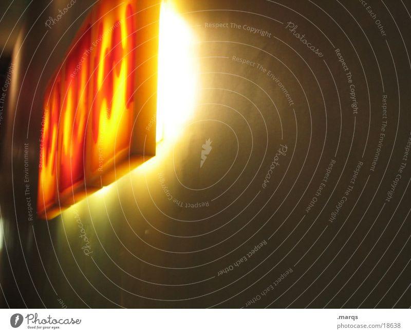Lights behind Windows Licht Wand Fototechnik Lichterscheinung Farbe