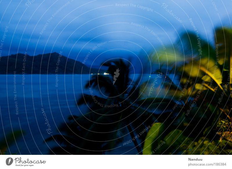 paradise colours Natur Wasser grün blau Pflanze Ferien & Urlaub & Reisen Berge u. Gebirge Landschaft Wind Aussicht Sturm Hügel Urwald Bucht Farbe Afrika