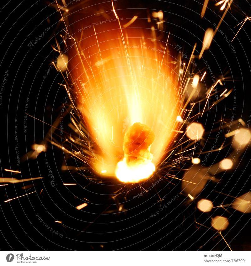 zündend. Kultur ästhetisch Design neu Revolution Silvester u. Neujahr Feuerwerk Wunderkerze heiß brennen Wärme Jubiläum Feste & Feiern Zündschnur explosiv