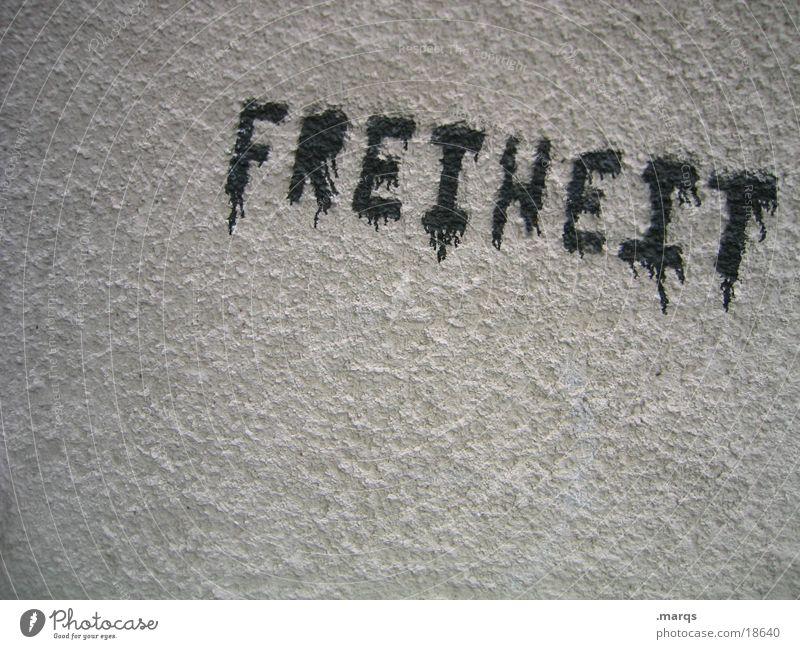 Freiheit weiß Stadt schwarz Wand Graffiti Gefühle grau Stil Mauer Kunst Fassade frei Schriftzeichen Hoffnung Kommunizieren