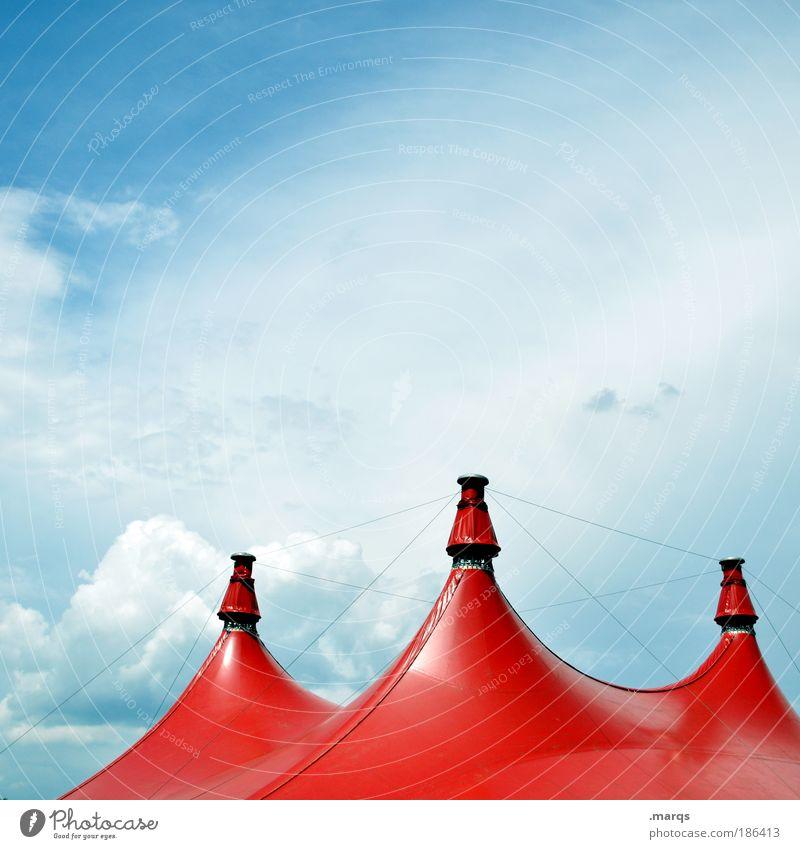 Höcker Himmel rot Freude Wolken Erholung Feste & Feiern elegant groß Zirkus Ausflug Fröhlichkeit Freizeit & Hobby Spitze Veranstaltung Jahrmarkt Schönes Wetter