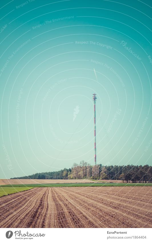 ackern für guten Empfang Technik & Technologie Telekommunikation Informationstechnologie Internet Umwelt Natur Landschaft Erde Himmel Wolkenloser Himmel Sommer