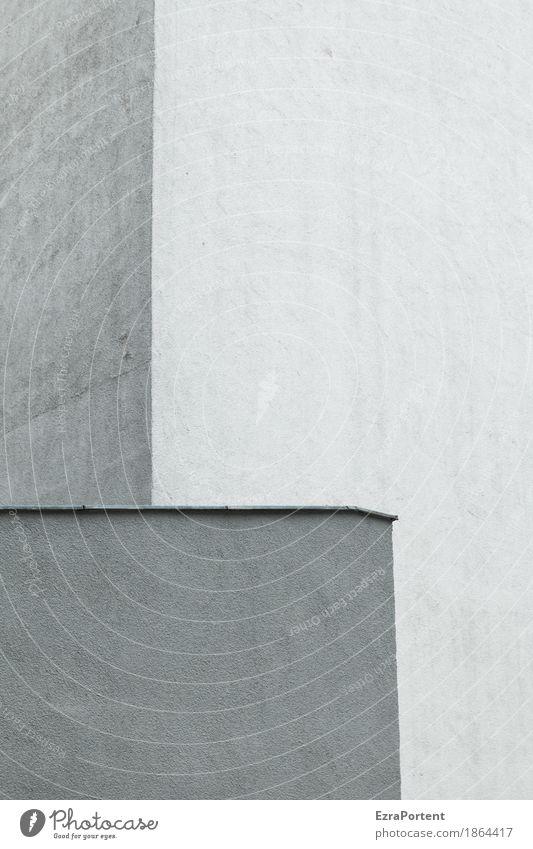 das Leben ist bunt Farbe weiß Haus schwarz Architektur Wand Gebäude Mauer grau Fassade Design Linie ästhetisch Ecke Beton Dach