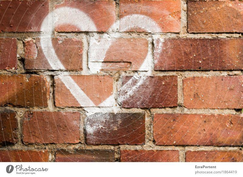 mit Herz und Wand Haus Mauer Treppe Stein Backstein Zeichen Graffiti Linie Liebe Verliebtheit Treue Romantik Liebeskummer Kreativität Lebensfreude Leidenschaft