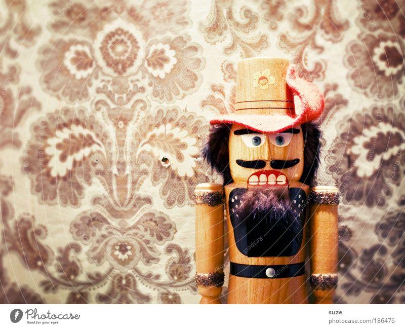 Alter Knacker Weihnachten & Advent alt Wand Holz Mauer Feste & Feiern Mund Kunst authentisch verrückt Dekoration & Verzierung Geschenk retro Zähne Material