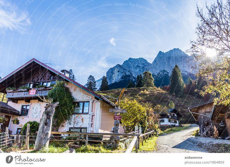 garmisch Haus Deutschland ein lizenzfreies Stock Foto