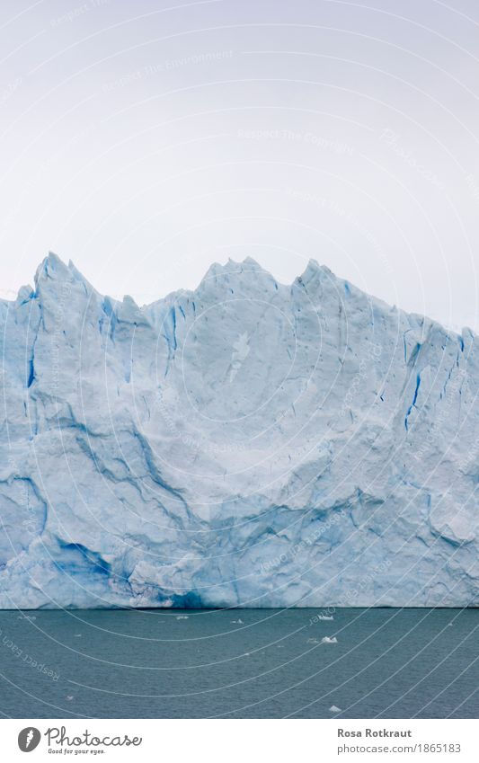 Im ewigen Eis Expedition Winter Schnee Berge u. Gebirge Wintersport Natur Landschaft Urelemente Wasser Himmel Wolkenloser Himmel Frost Gletscher Gletschereis