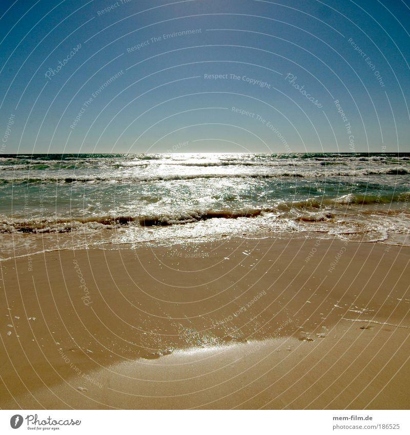 warum sind wir hier und nicht da? Strand Brandung trüb Küste