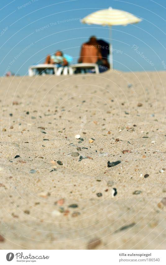 aus besseren Tagen... Mensch Ferien & Urlaub & Reisen Sonne Sommer Meer Strand ruhig Wärme Glück Sand Paar träumen Zusammensein Zufriedenheit Rücken liegen