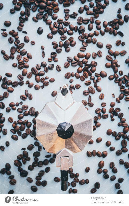 frische Kaffeebohnen und Percolator Natur Freude Lifestyle Stil Glück Design elegant Abenteuer