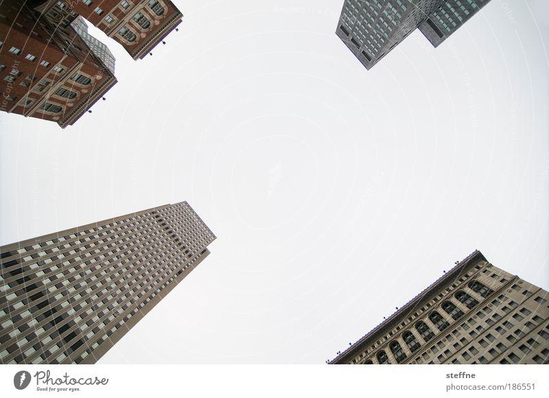 uptown Stadt Haus Business Erfolg Wachstum USA Bankgebäude Skyline Stadtzentrum