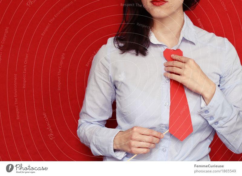 Business06 feminin Junge Frau Jugendliche Erwachsene 1 Mensch 18-30 Jahre 30-45 Jahre Geschäftsfrau Vorstellungsgespräch bewerben Karriere Berufsausbildung Büro
