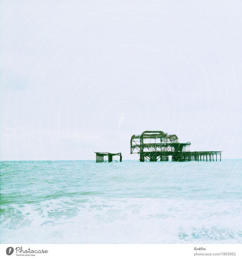 500 mal Wellenrauschen blau Sommer Wasser Meer Erholung Ferne Strand Leben Umwelt kalt Küste Freiheit Tourismus Ausflug Horizont