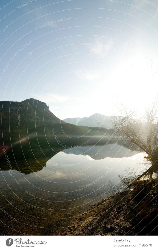 Altaussee I Natur Wasser Himmel Baum Sonne Pflanze Winter ruhig Herbst Berge u. Gebirge See Landschaft Umwelt Erde Alpen Urelemente