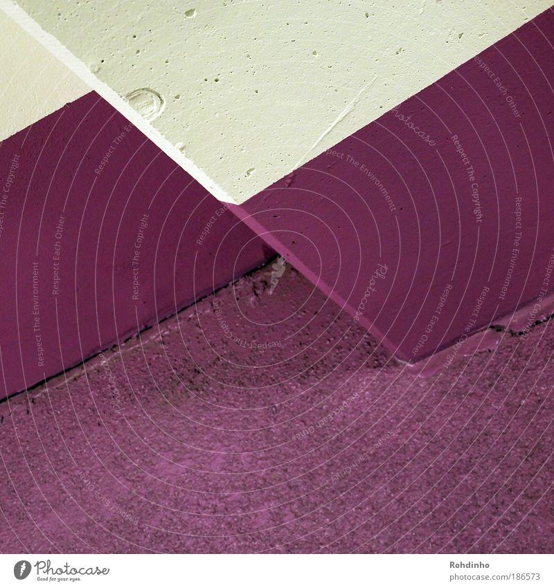 deep purple Stil Design Wohlgefühl Tapete Kunst Menschenleer Haus Gebäude Architektur Mauer Wand Fassade Stein eckig violett weiß Coolness modern Perspektive