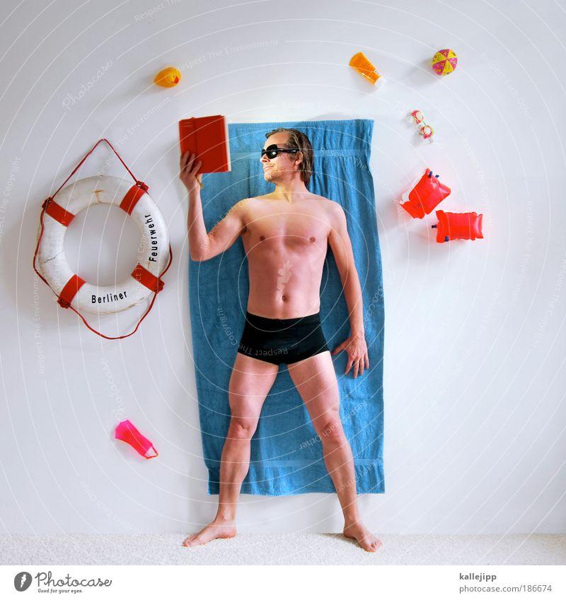 private spa Lifestyle Gesundheit Wellness Leben Wohlgefühl Erholung ruhig Spa Wohnung Schwimmbad Mann Erwachsene Körper Haut 1 Mensch 30-45 Jahre lesen Handtuch