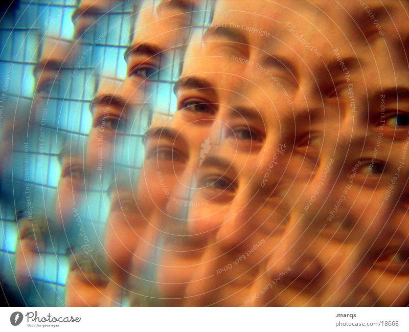 ein Augenblick Frau Gesicht Auge Bruch Fototechnik Kaleidoskop häufig