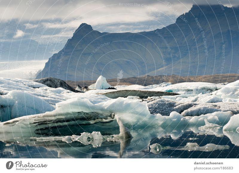 Klimagipfel !! Natur Einsamkeit Landschaft Eis Küste Umwelt Frost bedrohlich Wandel & Veränderung Klima einzigartig Bucht Island Umweltschutz Gletscher Umweltverschmutzung