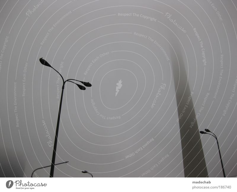 Klassenkampf Winter Einsamkeit Herbst grau Traurigkeit Wetter Angst Nebel Design ästhetisch Sicherheit Kommunizieren Sehnsucht Schutz Kontakt Straßenbeleuchtung
