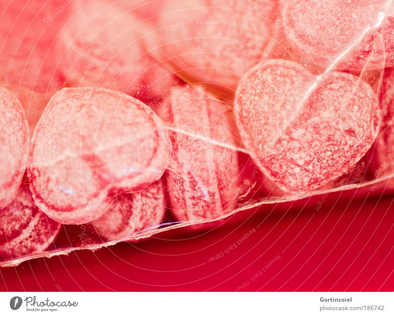 Glühweinherzen rot Liebe Ernährung Gefühle Lebensmittel Herz rosa süß lecker Süßwaren genießen Partnerschaft Bonbon Zucker Tüte Valentinstag