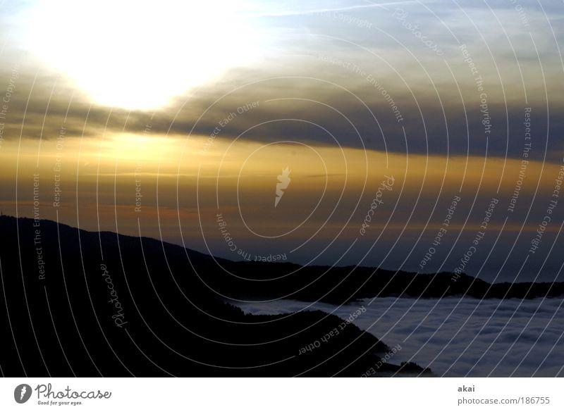 Cold Sun Nebelmeer Tourismus Ausflug Umwelt Natur Landschaft Pflanze Himmel Wolken Sonnenaufgang Sonnenuntergang Sonnenlicht Winter Klima Wetter