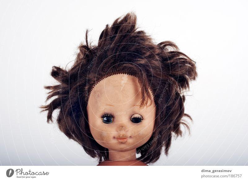 Fläche 1 Mädchen Frau Erwachsene Kopf Mensch Spielzeug Puppe Lächeln lachen machen Aggression Coolness Freundlichkeit gruselig niedlich Stress skurril Behaarung