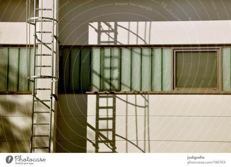 Versatz Fenster Wand Gebäude Mauer Fassade Ordnung Häusliches Leben Bauwerk Feuerleiter