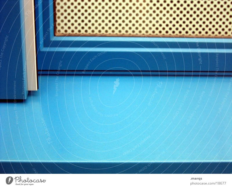 Orthogonal Ecke Strukturen & Formen Fenster Fensterbrett Gitter Fototechnik blau marqs