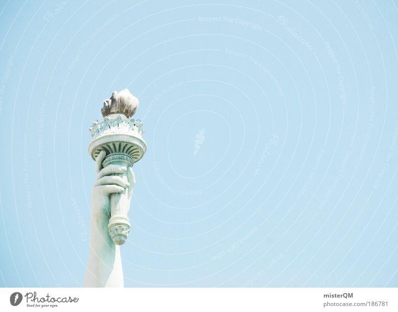 Eine Kugel Eis bitte. Himmel Zeichen ästhetisch Freiheit Freiheitsstatue USA Amerika Blauer Himmel Symbolismus Ferien & Urlaub & Reisen New York City Fernweh