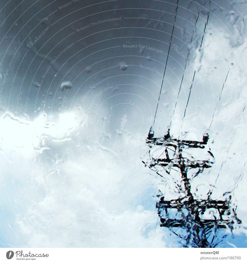 Rainy Days. Himmel Wolken Herbst Regen Wetter Umwelt nass ästhetisch Zukunft Kabel Telekommunikation Klima Sturm Medien Gewitter Unwetter