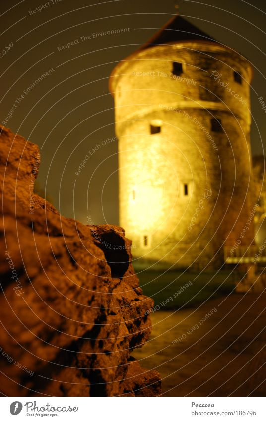 Kiek in de Kök Sightseeing Städtereise Altstadt Menschenleer Ruine Turm Bauwerk Mauer Wand Fassade Denkmal Stein alt kaputt braun Tallinn Estland Mittelalter