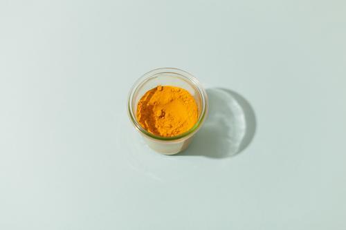 Kurkuma blau Gesunde Ernährung gelb Essen Gesundheit Lebensmittel Kräuter & Gewürze lecker Schalen & Schüsseln Pulver Asiatische Küche Curcuma