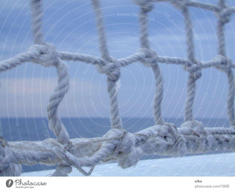 knotenpunkt Wasser Meer blau Wasserfahrzeug Seil Aussicht Schifffahrt Knoten