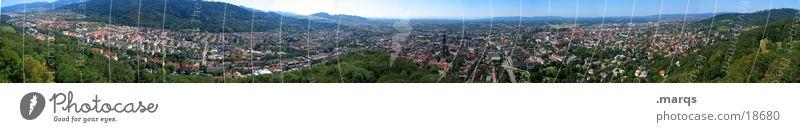 270° Freiburg Sommer Deutschland groß Europa Bahnhof Stadtteil Panorama (Bildformat) Stadion Münster Altstadt Brauerei Schlossberg
