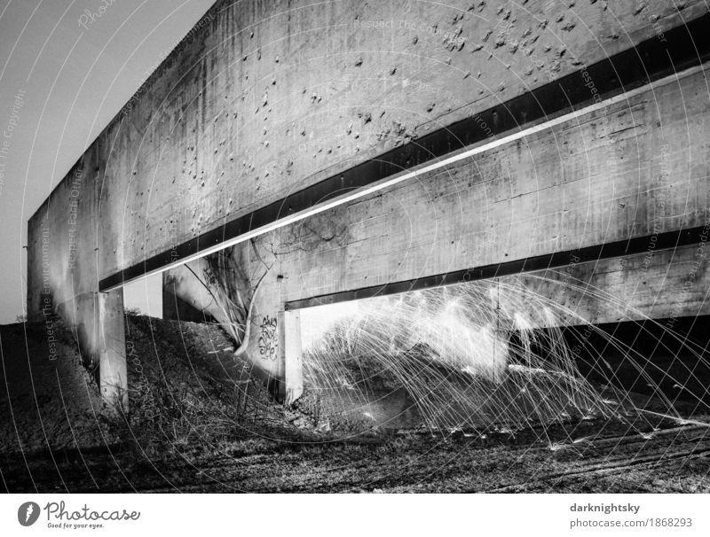 Architectural Explosion weiß ruhig schwarz Straße Architektur Wand Wege & Pfade Mauer Kunst außergewöhnlich Stein fliegen Luft Erde Kraft ästhetisch