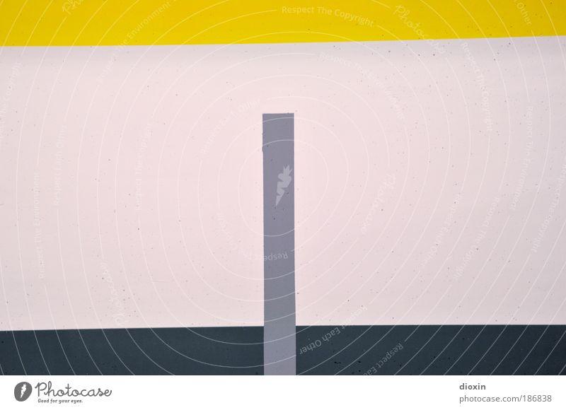 Die Kunst des Parkens weiß schwarz gelb Wand grau Mauer Farbstoff Kunst Beton Ordnung Design Gemälde Maler Parkhaus Kunstwerk Präzision