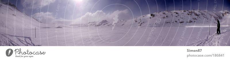 White Lake Ferien & Urlaub & Reisen Freiheit Winter Schnee Winterurlaub Berge u. Gebirge Umwelt Natur Landschaft Himmel Wolken Sonnenlicht Schönes Wetter Eis