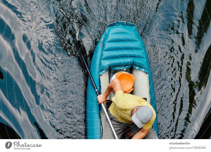Sail Mensch Mann Sommer Wasser Freude Erwachsene Leben Lifestyle Bewegung Sport Gesundheit Freiheit Schwimmen & Baden Freizeit & Hobby maskulin Ausflug