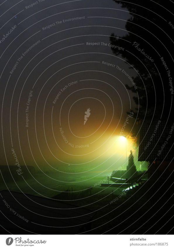 fetter Nebel Natur Himmel Baum ruhig Haus Herbst Wiese Garten träumen Wege & Pfade Licht Stimmung Feld Stern Nacht