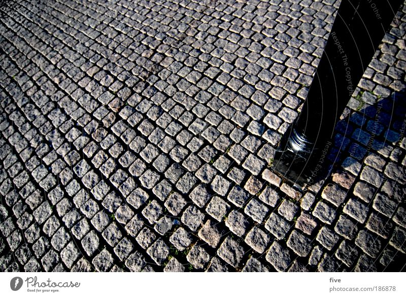 Dånischer Bøden Kopenhagen Dänemark Hafenstadt bevölkert bauen standhaft Pfosten Stab Pflastersteine Stein Boden Farbfoto Außenaufnahme Vogelperspektive
