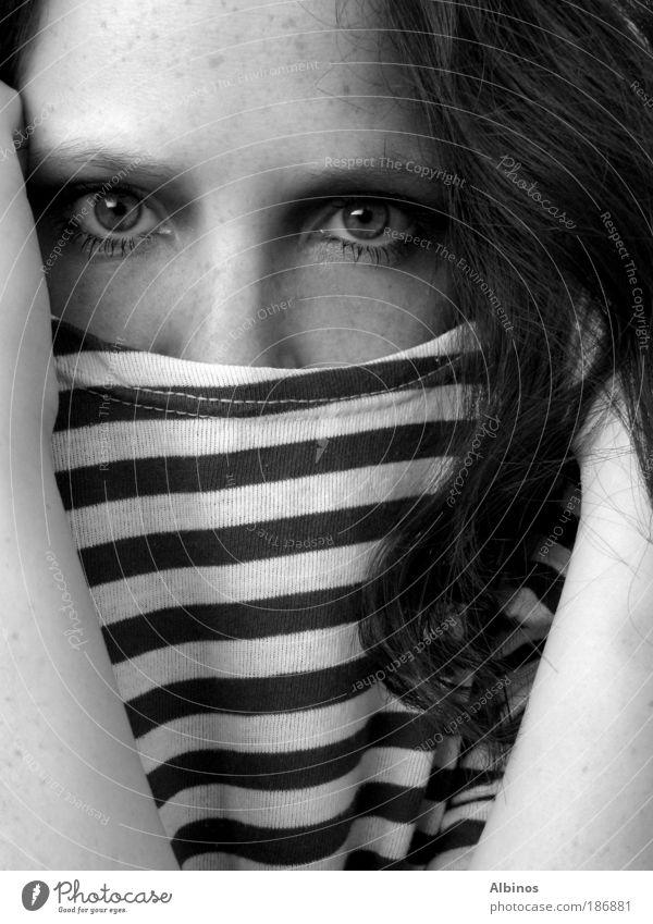 Mensch Jugendliche schön Gesicht Auge Haare & Frisuren Haut Erwachsene Hemd Junge Frau 18-30 Jahre