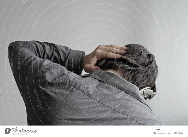 Hörkopfer Traurigkeit Musik Angst verrückt Ohr Medien Krankheit Kontakt hören Schmerz Todesangst Sinnesorgane Stress Lautsprecher Kopfhörer Mensch