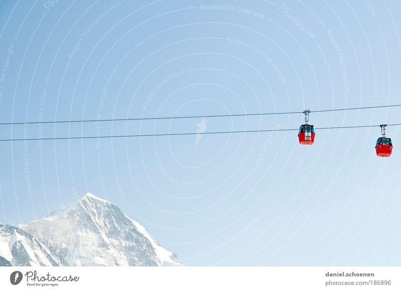 Grindelwald Ferien & Urlaub & Reisen Tourismus Winter Schnee Winterurlaub Berge u. Gebirge Wintersport Wolkenloser Himmel Schönes Wetter Gipfel