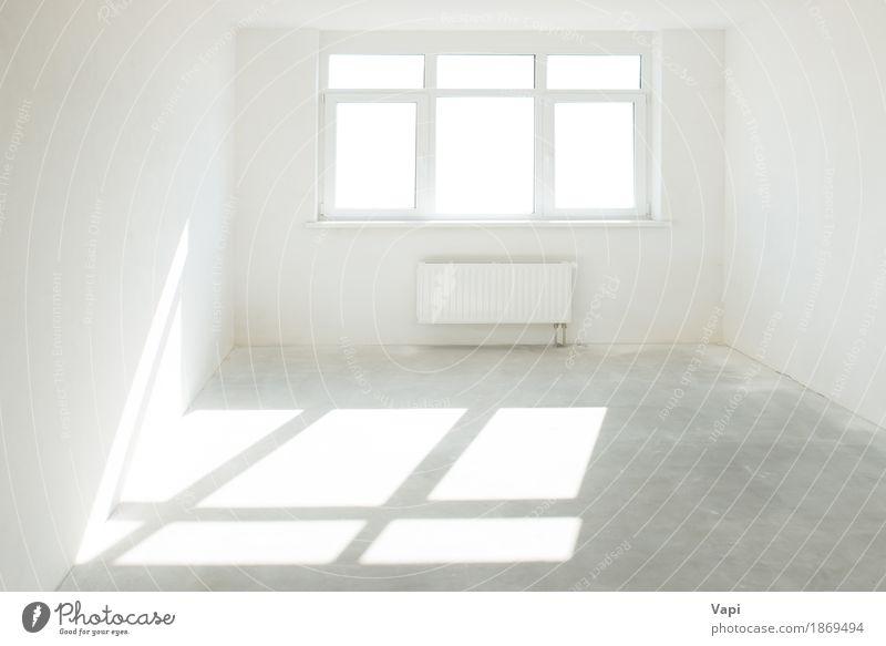 Weißer Raum mit Fenster Farbe weiß Haus Architektur Innenarchitektur Stil Business grau Design Wohnung elegant modern Kreativität Idee