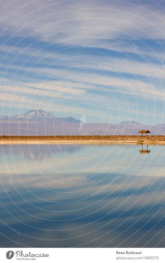 An den Strand Ferien & Urlaub & Reisen Abenteuer Ferne Natur Landschaft Wasser Himmel Wolken Berge u. Gebirge Anden Vulkan Küste Teich exotisch Zufriedenheit