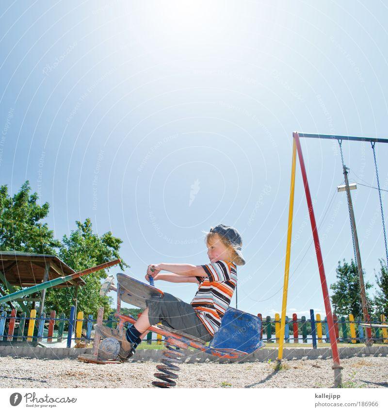 holzklasse Mensch Kind Sonne Sommer Ferien & Urlaub & Reisen Ferne Leben Spielen Junge Freiheit Freizeit & Hobby Ausflug Kindheit Flugzeug Abenteuer Freude